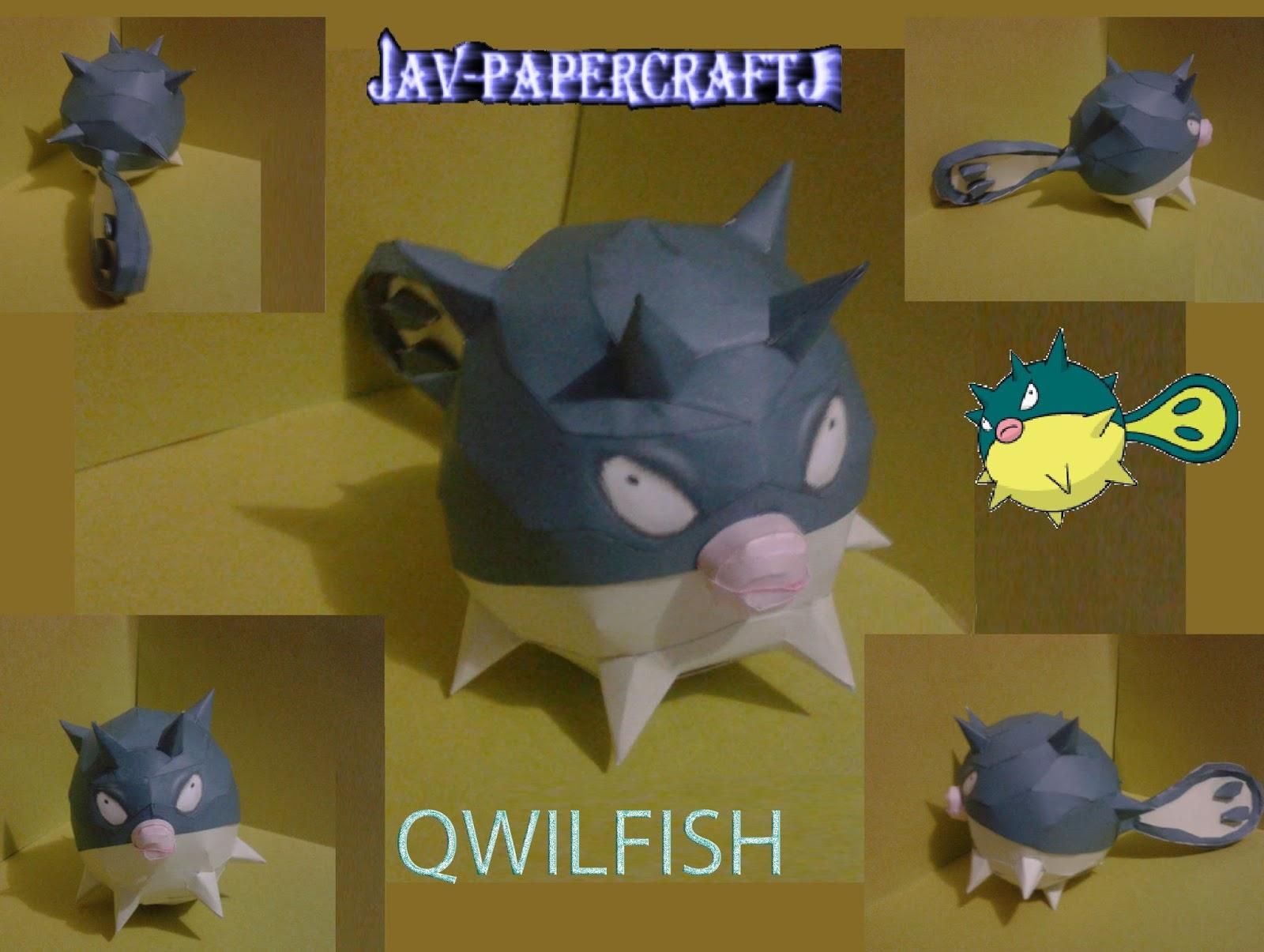 Pokemon Qwilfish Papercraft