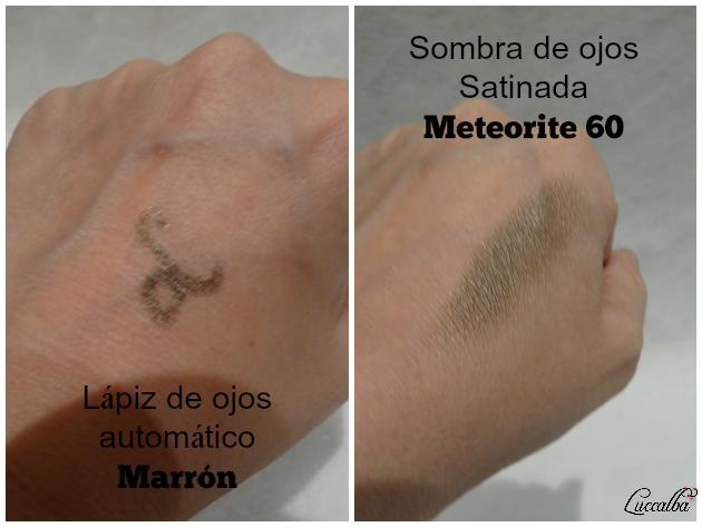 Swatches  de lápiz de ojos automático Marrón y sombra Meteorite
