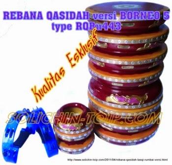 Rebana Qasidah Lasqi versi Borneo 5 kualitas esklusif harga termahal merek Solichin Toip Bumiayu