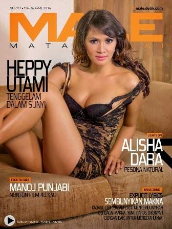 Heppy Utami, model MALE Mata Lelaki 77