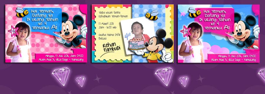 mickey cards berbagai jenis kartu kartu ultah kartu ucapan kartu