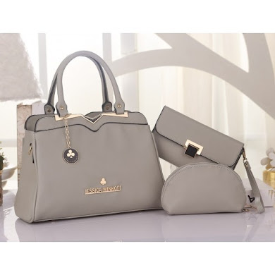 JESSICA MINKOFF BAG ( 3 in 1 Set ) - GREY