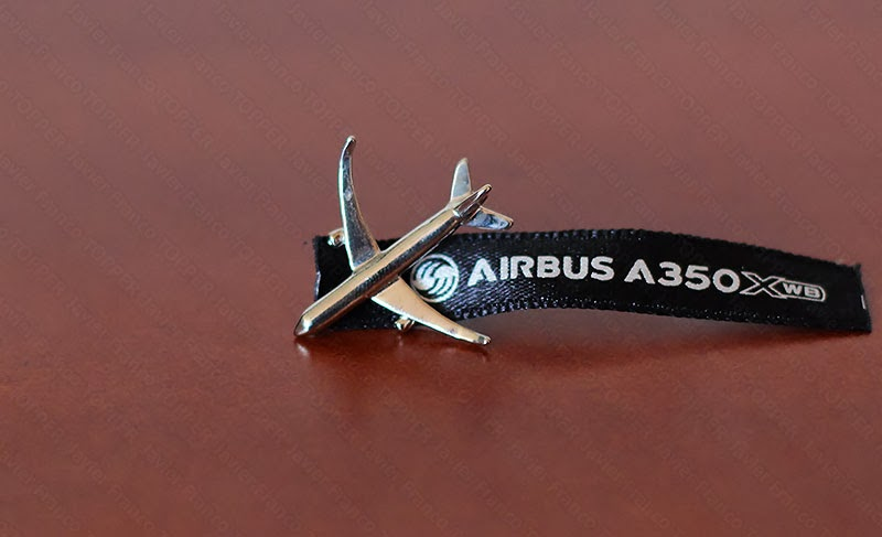 Broches o 'pin' de aviación - Airbus A350