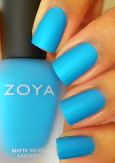 Zoya sky blue polish