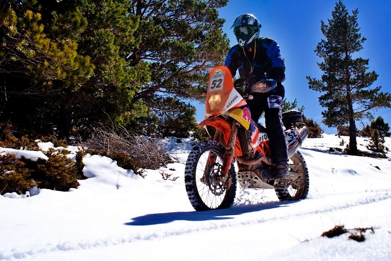KTM 690 on snow