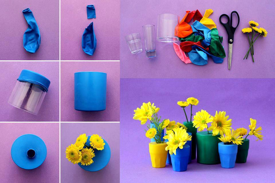 vasos decorativos como fazer de vidro florido