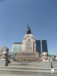 Status of Sukhbaatar at Chinggis Khaan Square