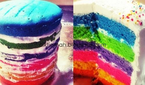 Resepi Kek Pelangi ~Rainbow Cake