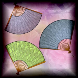 "Free scrapbook ""Simple Colored Fans"" from mgtcsdigitalartstuff Full Size"