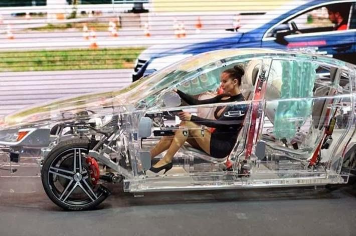 Transparent acrylic car .