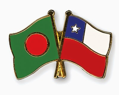 Chile - Bangladesh flag