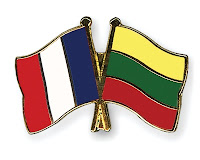 lithuania, france, flag