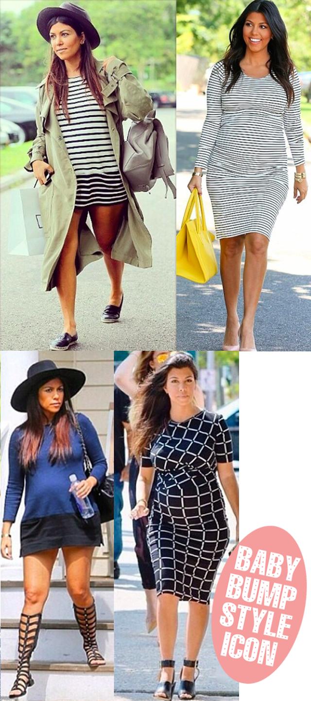 Kourtney Kardashian baby bump style