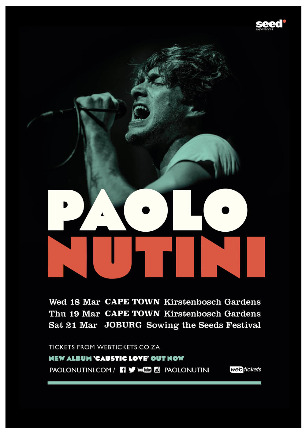 PAOLO NUTINI TO HEADLINE SOWING THE SEEDS MUSIC FESTIVAL