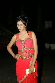 Shamili Transparent Red Saree Latest Unseen Pictureshoot (5).JPG