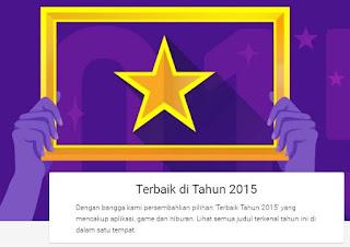 """Lima Aplikasi, Game Dan Hiburan Pilihan """"Terbaik 2015"""" Versi Google Play Indonesia"""