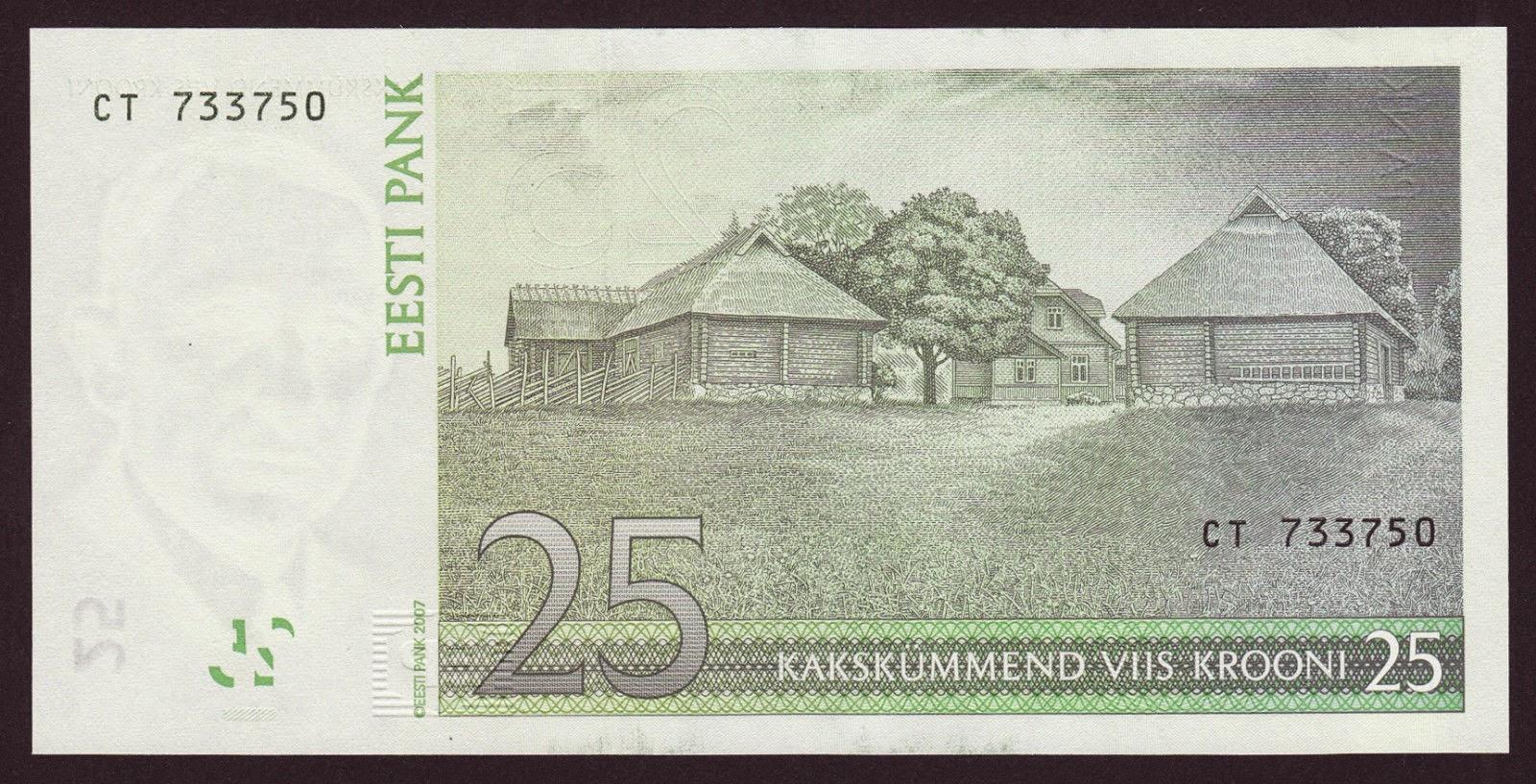 Estonia banknotes 25 krooni note Farm