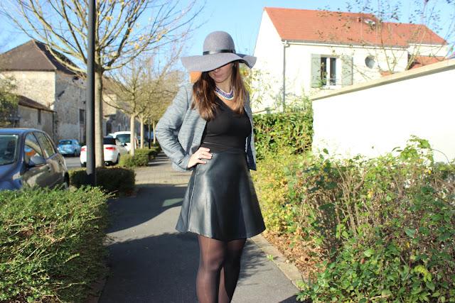 Chaussures à paillettes Naf Naf, robe bi matière, capeline grise H et M prenium