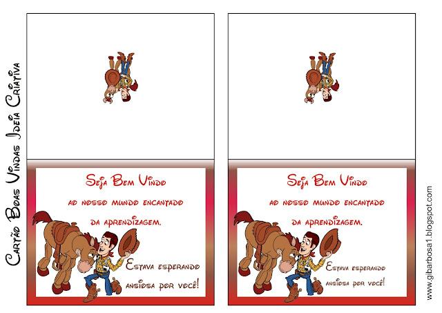 Cartão Boas Vindas Toy Story