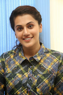 Taapsee Pannu Looks Ravishing Beautiful HD Pics Face Closeups at Ganga Movie Success Meet