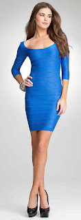 colored fashion bodycon dress