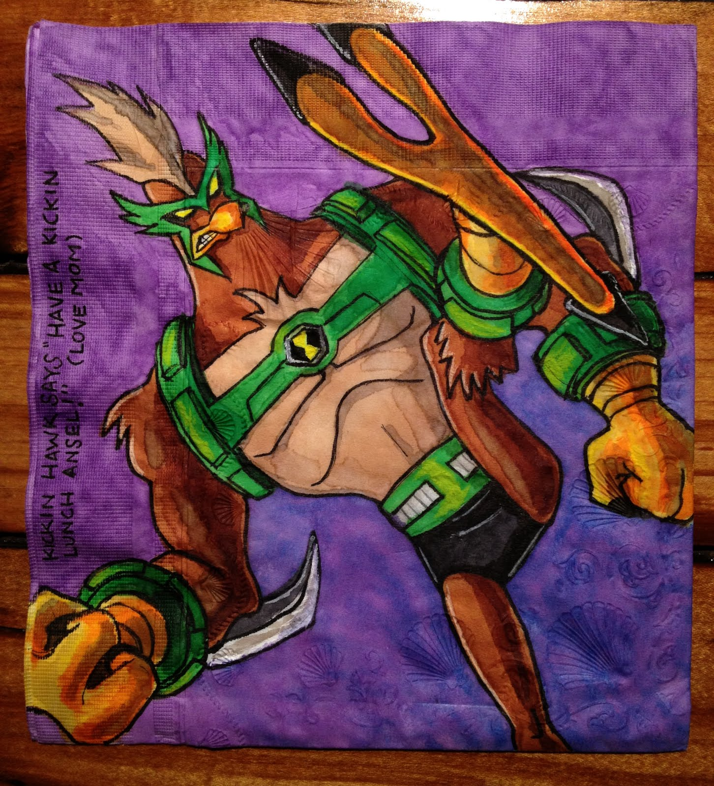 Daily napkins kickin hawk from ben 10 omniverse kickin hawk from ben 10 omniverse altavistaventures Image collections