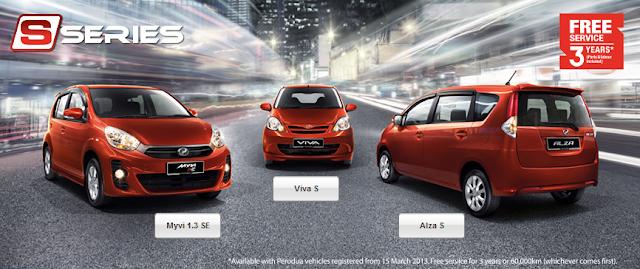 Perodua S-Series - Viva S, Myvi 1.3 SE & Alza S !