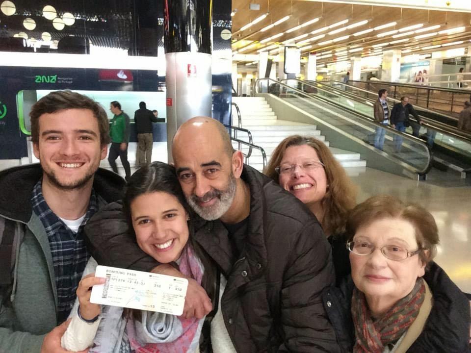 Catarina ,no Aeroporto de Lisboa