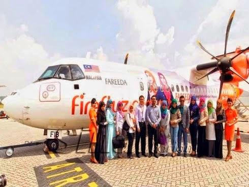 Kerjasama Tudung Fareeda Dengan Pesawat Firefly