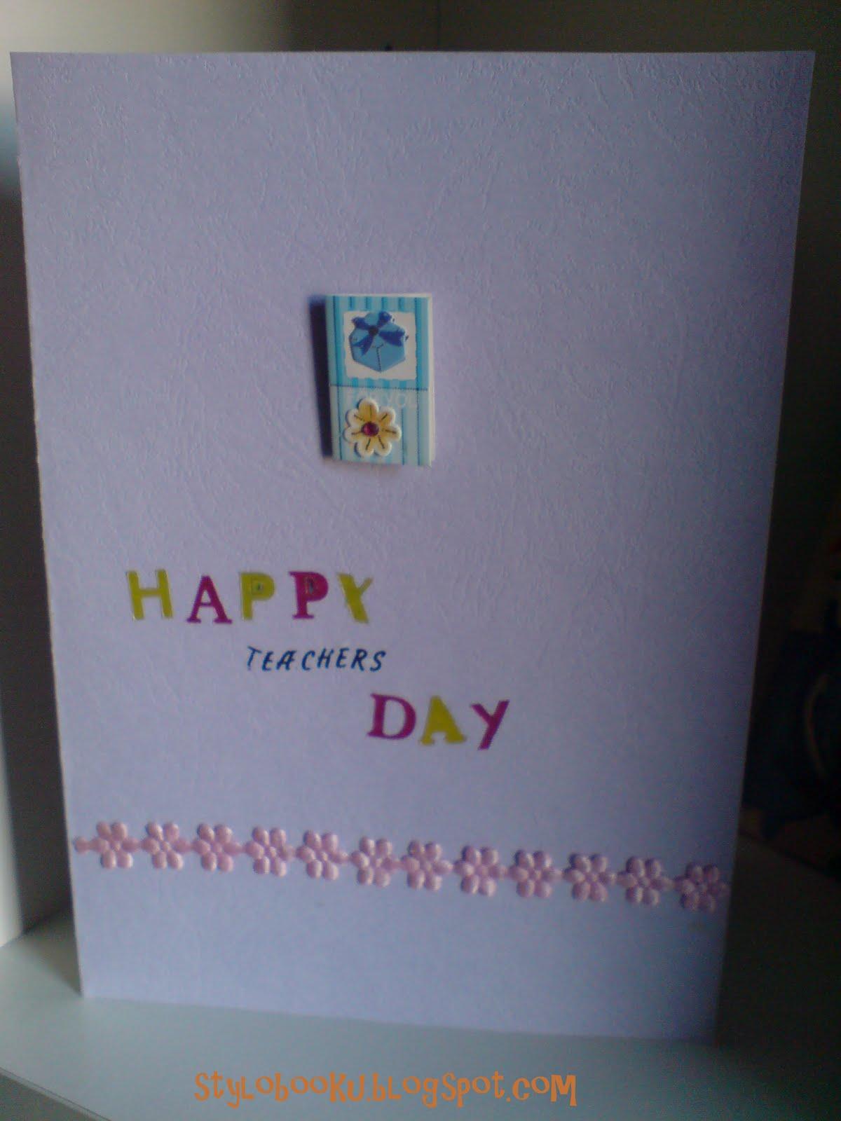 Stylobooku Happy Teachers Day With Diy Cards