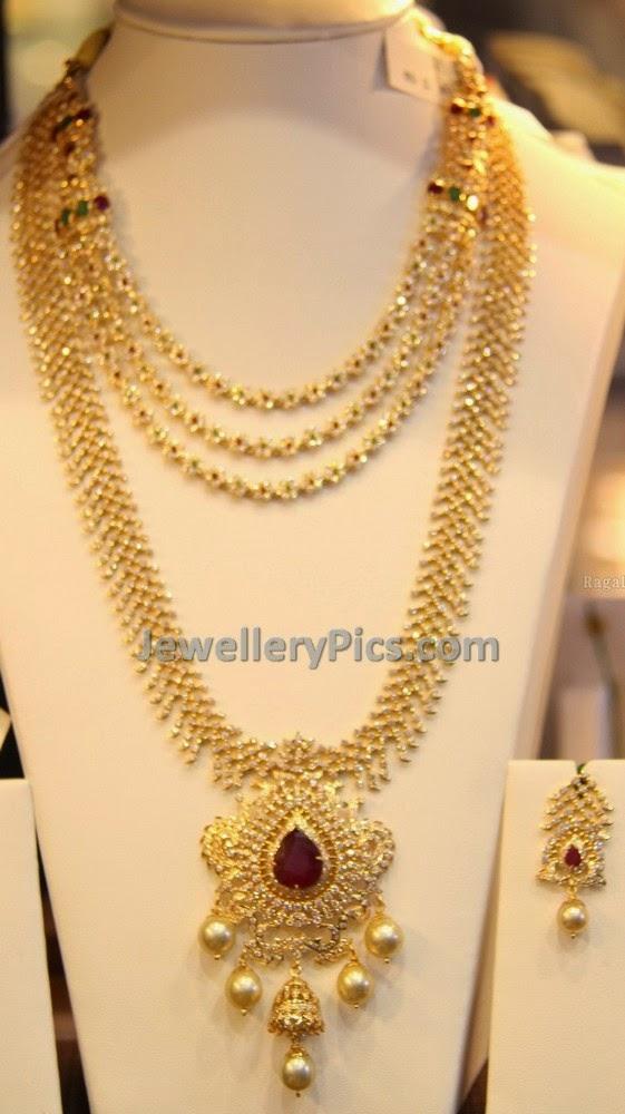 diamond jewellery necklace sets