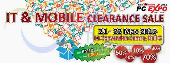 PC Expo Jualan Penghabisan Stok Barangan IT Mobile 2015 Sebelum GST
