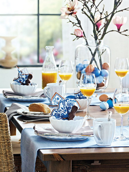 Ingrid brown interior design easter table settings Brunch table decorations
