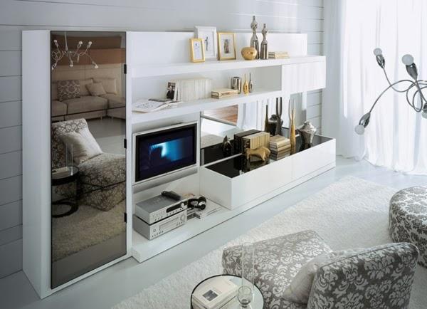 En una sala pequeña también podemos disfrutar de una Tv, lo