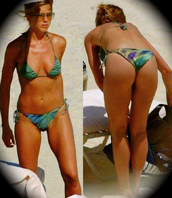 jennifer aniston bikini thong ass