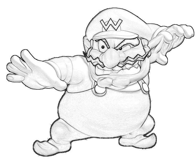 wario coloring pages - photo#19
