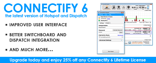Connectify 6 Hotspot Pro + Connectify Dispatch 6 Latest