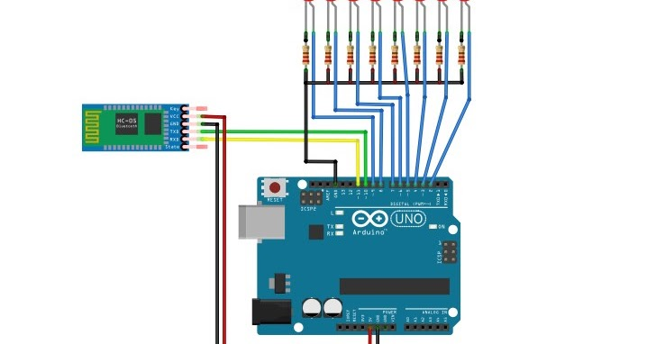 Memprogram arduino bluetooth hc kendali android