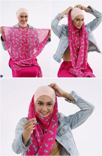 Model Jilbab Pashmina Terbaru Yang Simpel