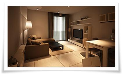 Phòng khách căn hộ Thuỷ Tiên Resort