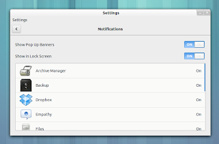 GNOME 3.8 notification settings