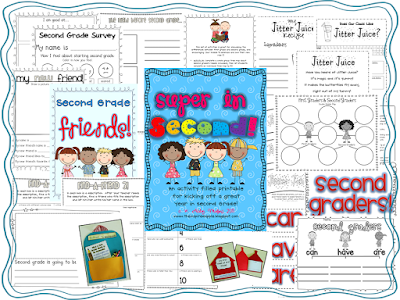 Second Grade is Super! {First Day of School Activities for 2nd Grade}