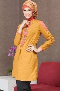 Azka Sarimbit V5 Blus TSK15 - Golden (Toko Jilbab dan Busana Muslimah Terbaru)