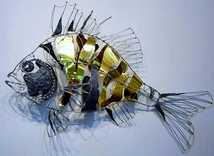 Своими руками рыба из металла