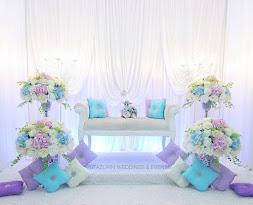 Pelamin Tunang Mini Pelamin Tema Warna Pastel Blue purple Lavender Tunang