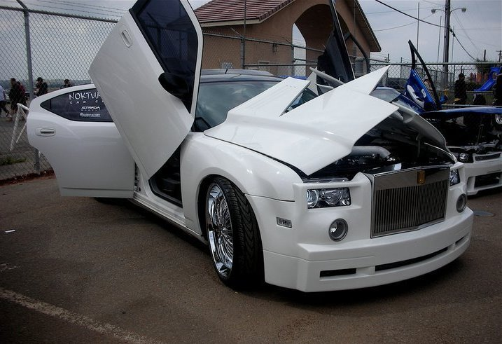 Modified Cars Roll Royce With Butterfly Doors Full Modified