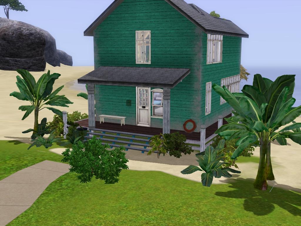 My Sims 3 Blog: Tiny Beach Hut by Ninjy