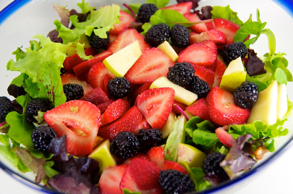 Strawberry, Apple & Blackberry Salad