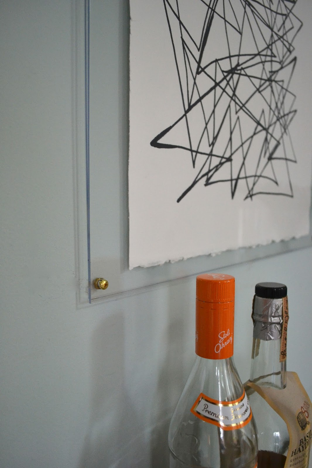 knock off ethan allen art (scribbling) in an acrylic frame ...