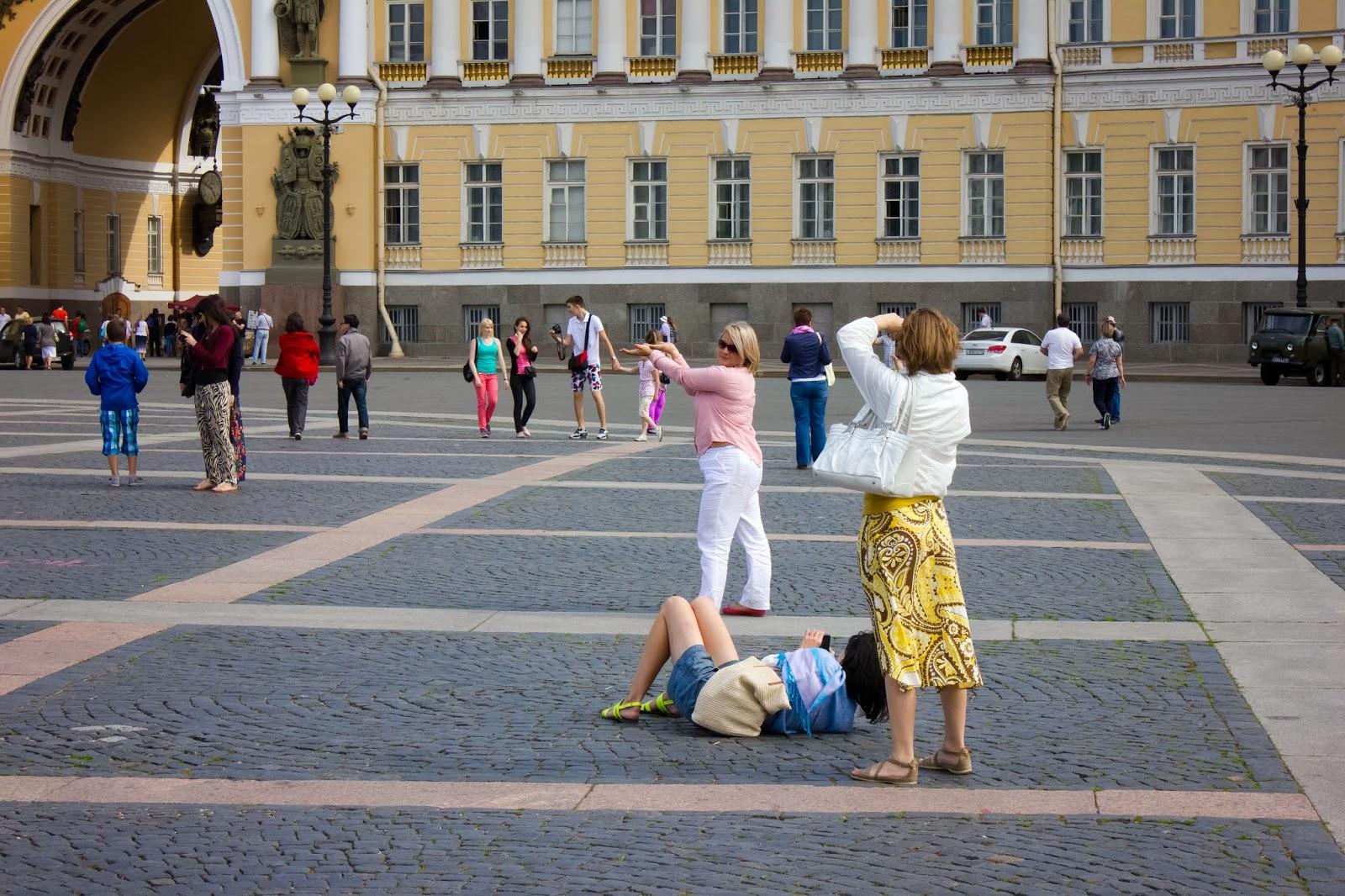 Санкт-Петербург, Россия, Туристы